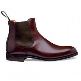 Clara Chelsea Boot in Burgundy Calf Leather