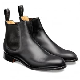 Clara Ladies Chelsea Boot in Black Calf Leather