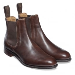 Clara Ladies Chelsea Boot in Mocha Calf Leather