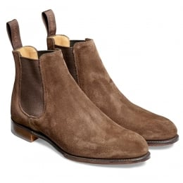 Clara Ladies Chelsea Boot in Plough Suede