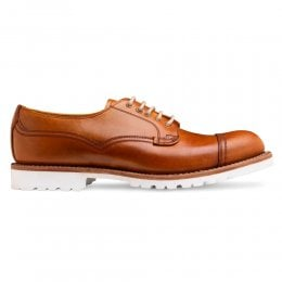 Clough Capped Derby Shoe in English Tan Chromexcel Leather