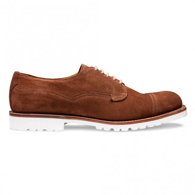 Cheaney Clough Capped Derby Shoe in Fox Suede