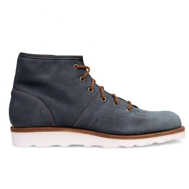 Cheaney Cole MV Monkey Boot in Blue Waxy Suede