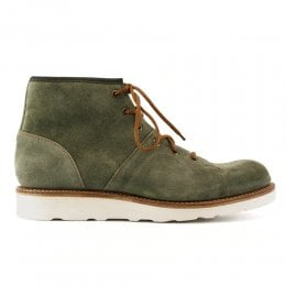 Cole MV Monkey Boot in Green Waxy Suede