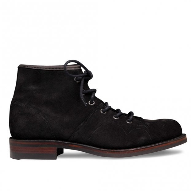 Cheaney Collette R Monkey Boot in Black Waxy Suede