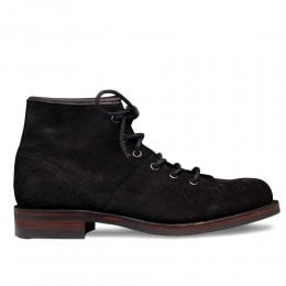 Collette R Monkey Boot in Black Waxy Suede