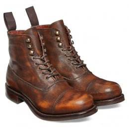 Constance R Ladies Military Style Ankle Boot in Copper Goat Skin