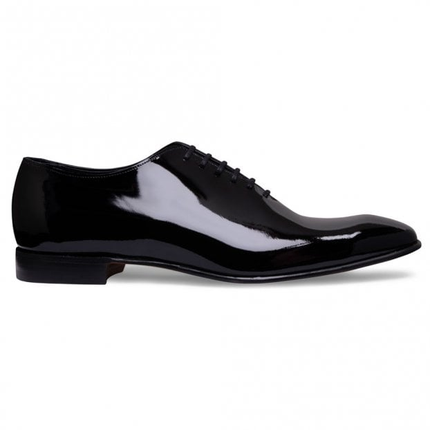 Cheaney Crosby Black Patent Leather Wholecut Oxford Dress Shoe