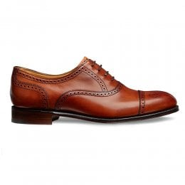 Darcey Semi Brogue in Dark Leaf Calf Leather