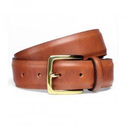 Dark Leaf Belt with Gold Buckle