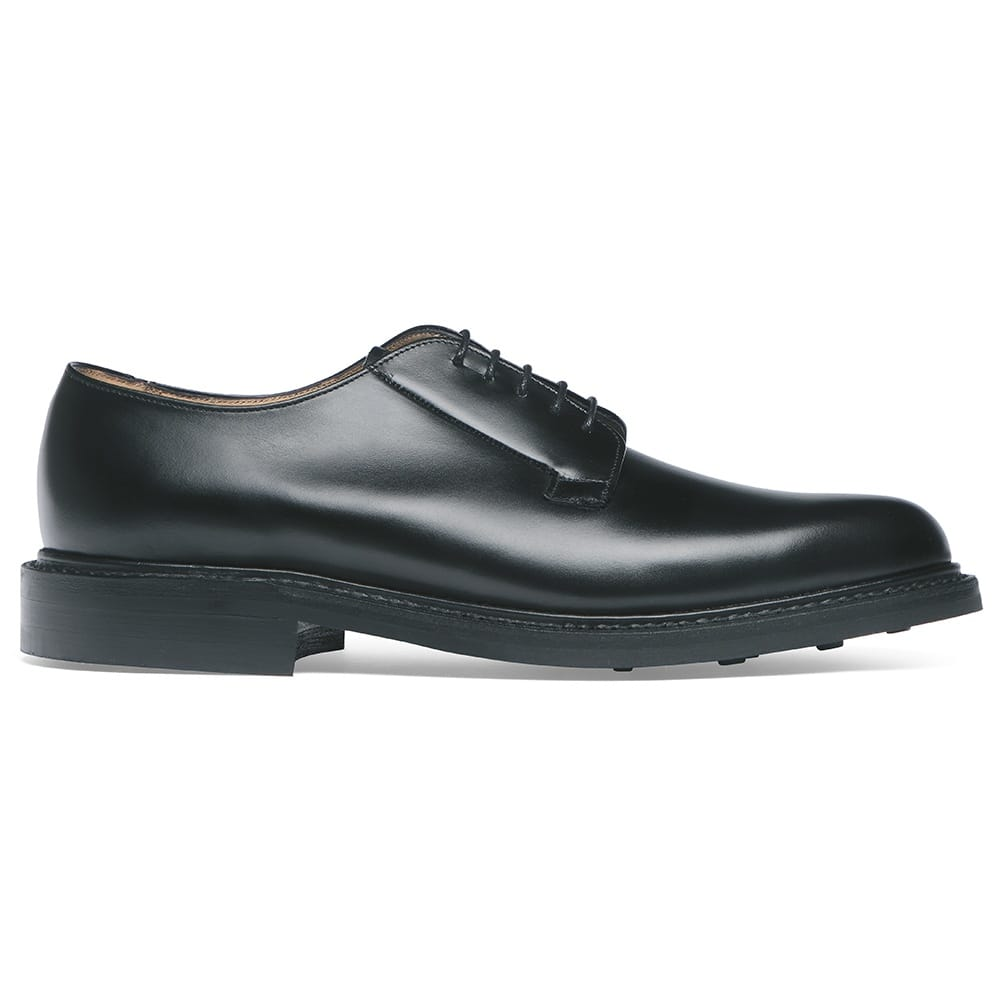 Cheaney Deal Black Calf Leather Derby Shoe Hand Made