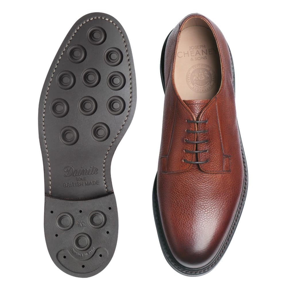 cheaney deal mahogany derby shoe made in