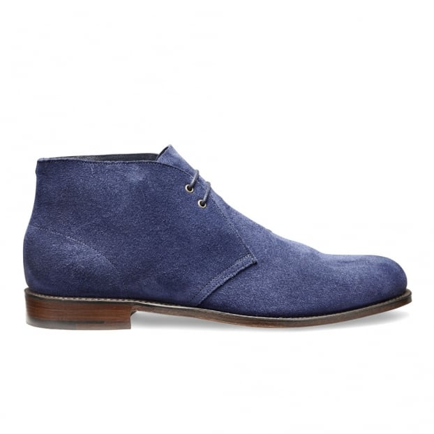 Cheaney Dexter Desert Boot in Bluette Castoro Suede