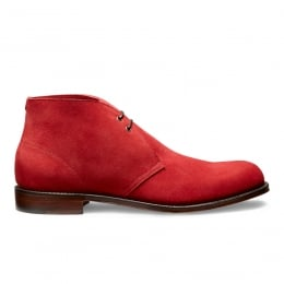 Dexter Desert Boot in Melograno Red Castoro Suede