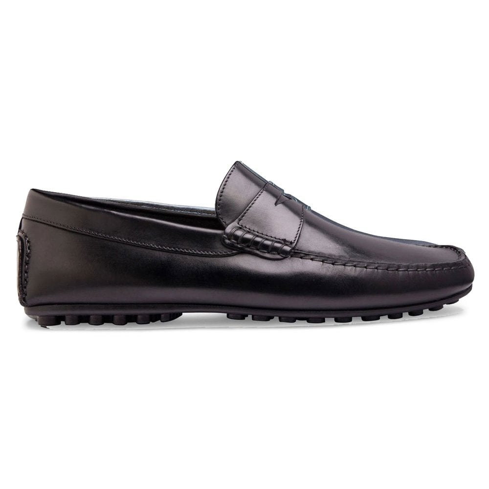 d04507fdca Donnington Driving Moccasin Shoe in Black Calf Leather