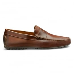 Donnington Driving Moccasin Shoe in Sienna Calf Leather