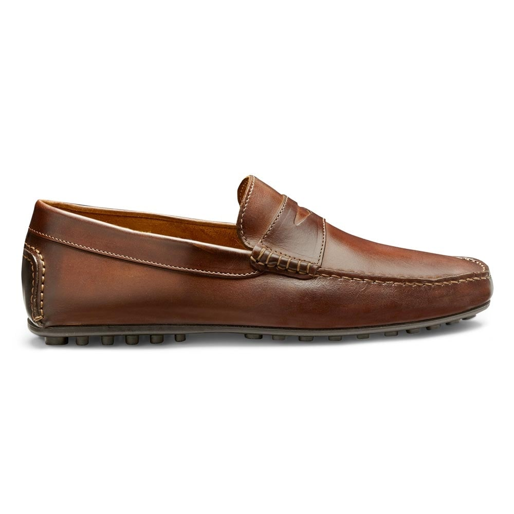 Men's Brown Calf Leather Driving Moccasin
