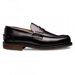 Dorking II R Penny Loafer in Black Calf Leather