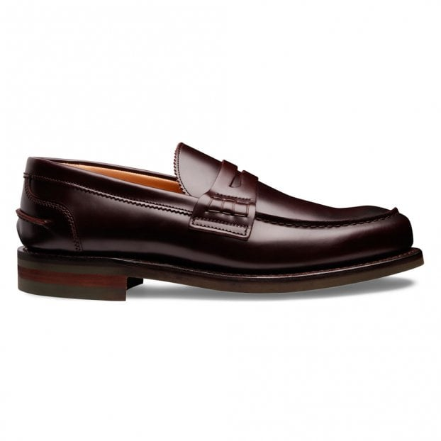 Cheaney Dorking II R Penny Loafer in Burgundy Coaching Calf Leather