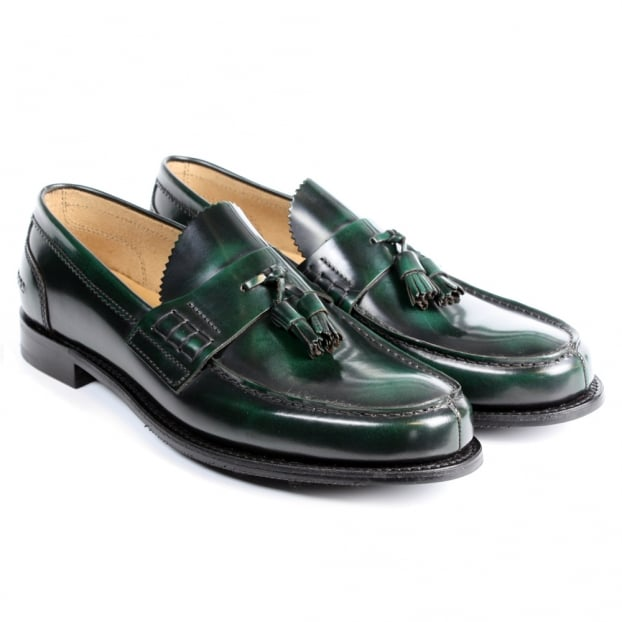 Cheaney Dorney Loafer in Dark Green Rub Off Leather