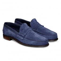 Dover D Loafer in Bluette Castoro Suede