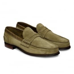 Dover D Loafer in Cappero Green Castoro Suede