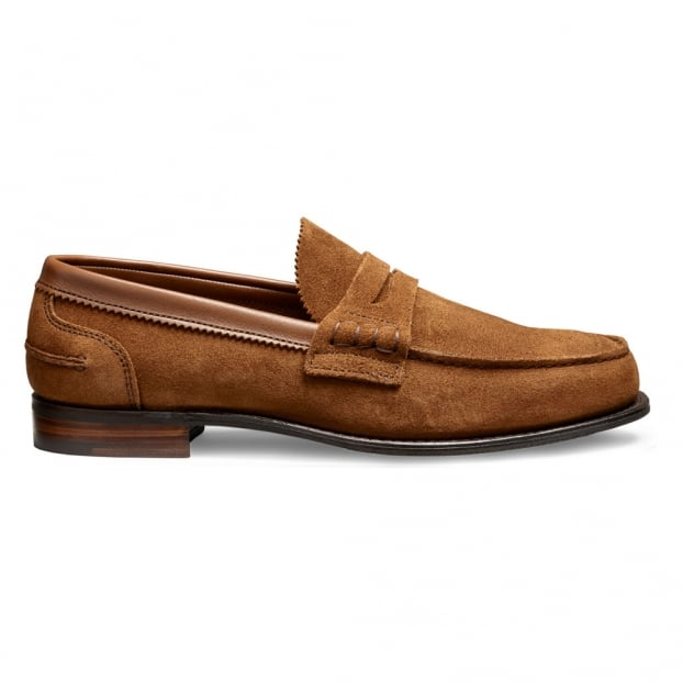 Cheaney Dover D Loafer in Sandal Castoro Suede