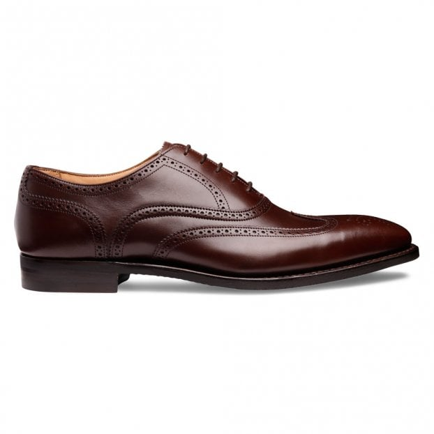 Cheaney Edinburgh D Wingcap Oxford in Brown Calf Leather