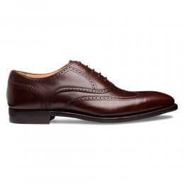 Edinburgh D Wingcap Oxford in Brown Calf Leather