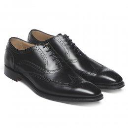 Edinburgh Wingcap Oxford Brogue in Black Calf Leather