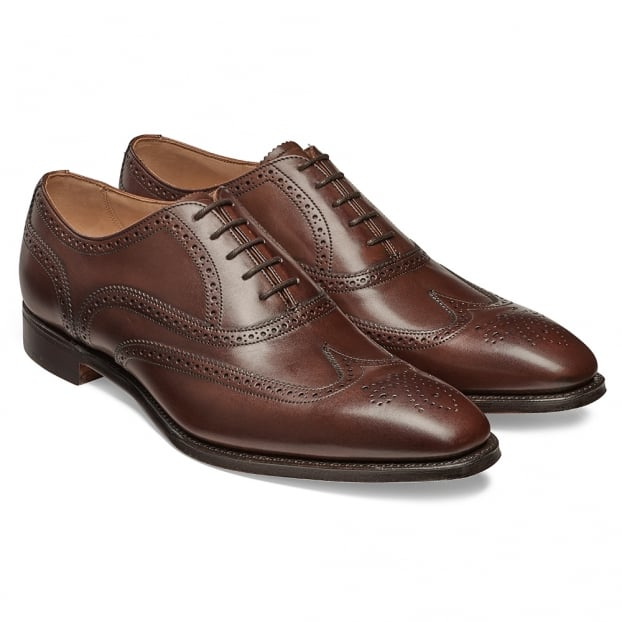 Cheaney Edinburgh Wingcap Oxford in Burnished Mocha Calf Leather