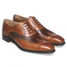 Edinburgh Wingcap Oxford in Chestnut/Mahogany Calf Leather