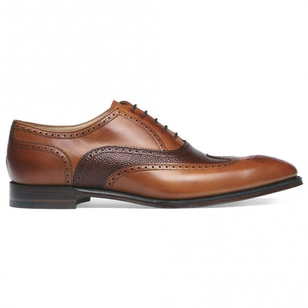 Cheaney Edinburgh Wingcap Oxford in Chestnut/Mahogany Calf Leather