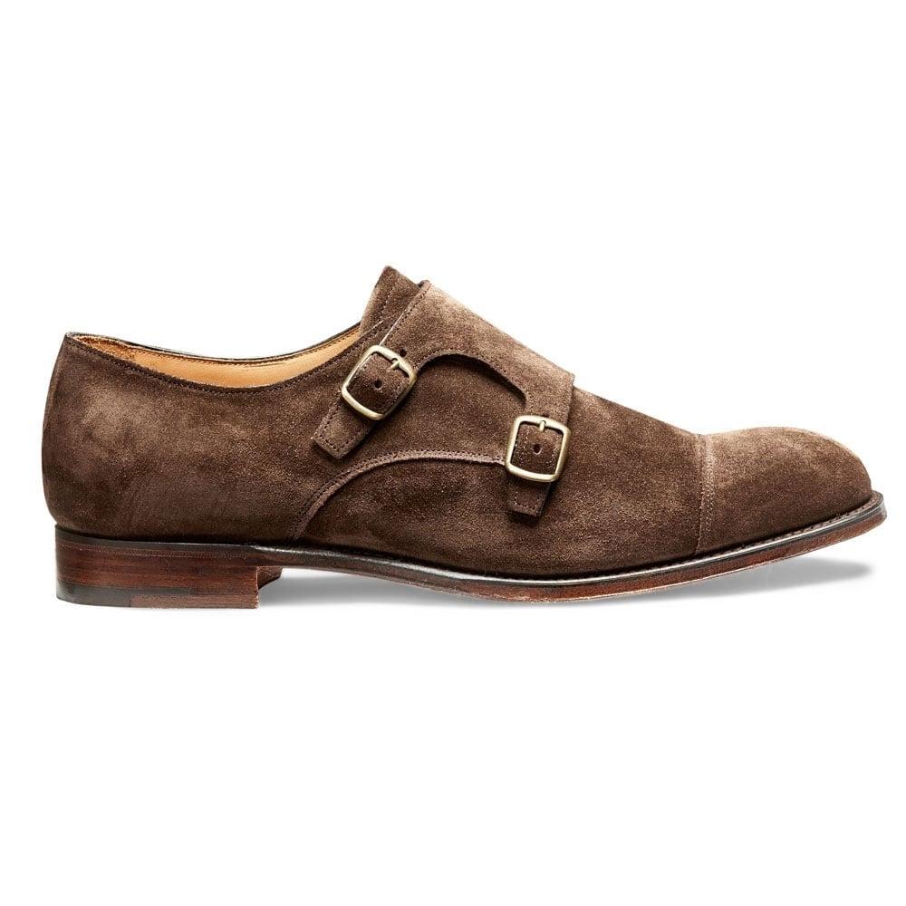 Suede Double Buckle Monk Shoe