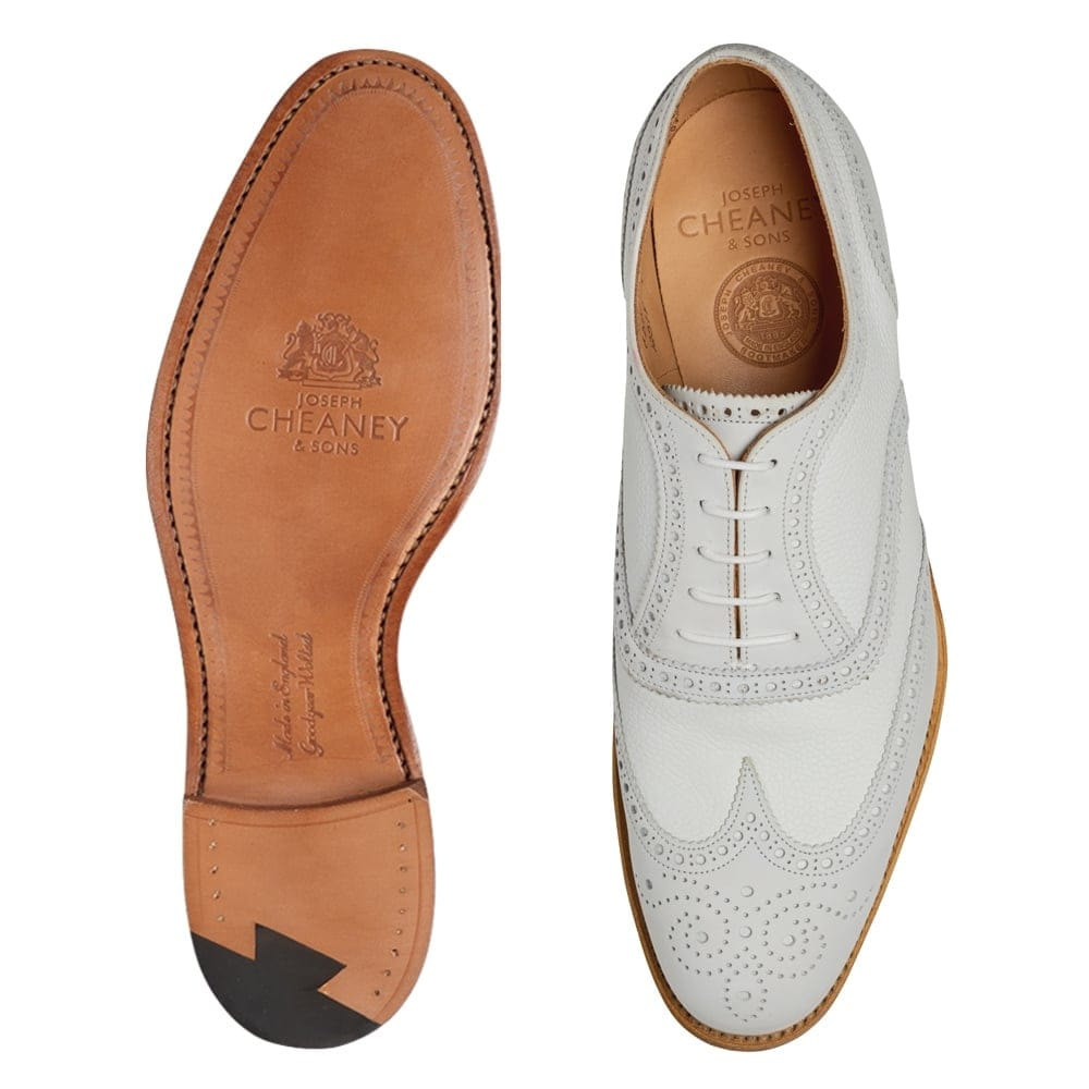 bcecefe7b75c1 Cheaney Edwin II | Two Tone White Oxford Brogue | Made in England