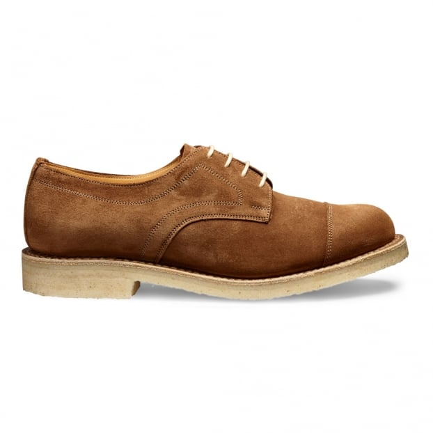 Cheaney Eleanor Capped Derby Shoe in Fox Suede
