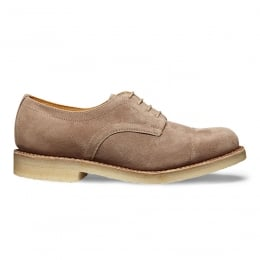 Eleanor Capped Derby Shoe in Mink Suede