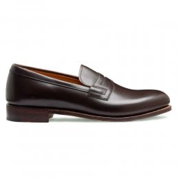 Ella Penny Loafer in Mocha Calf Leather