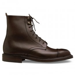 Elliott II R Capped Derby Boot in Mocha Calf Leather