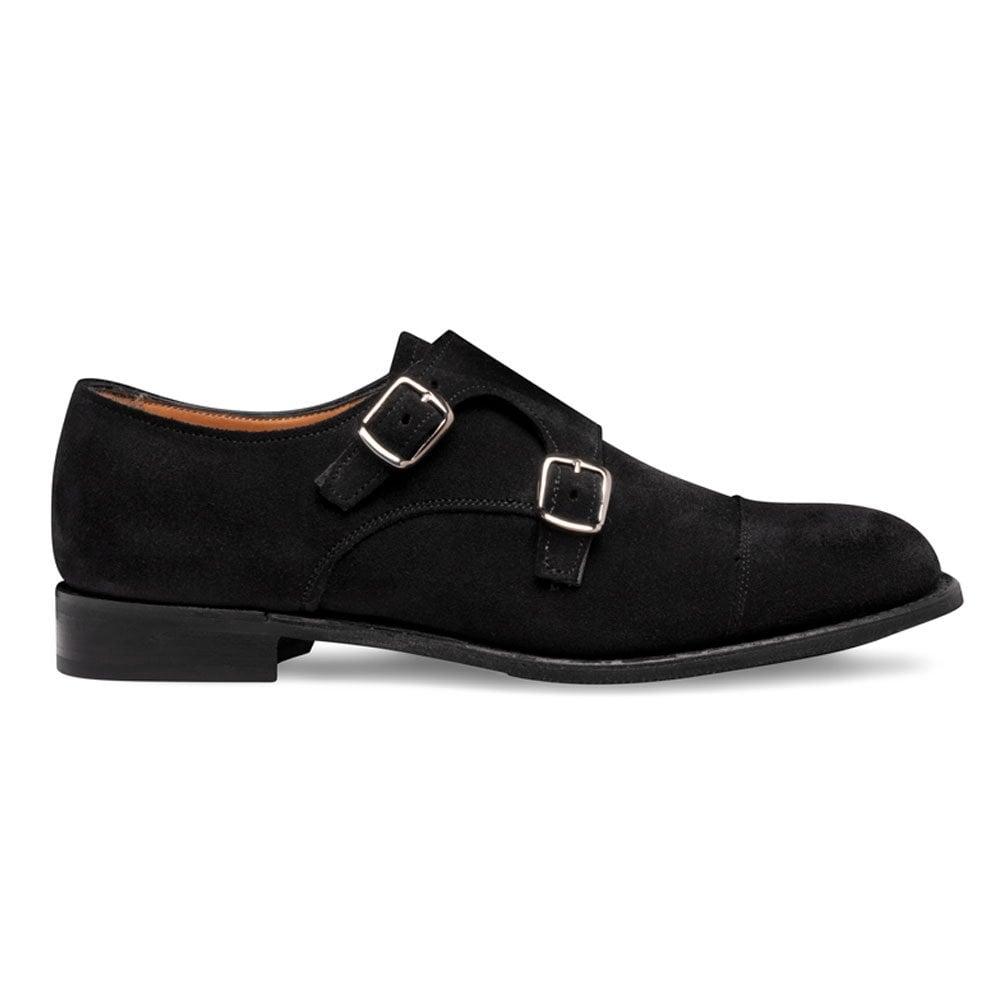 Black Suede Monk Shoe