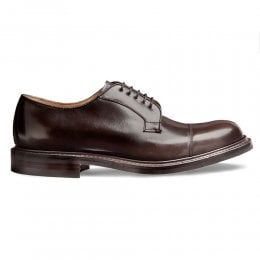 Epsom II R Capped Derby in Brown Lungo Leather
