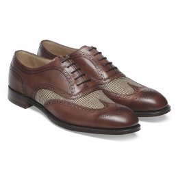 Ernest Two Tone Oxford Brogue in Conker & Dean Check