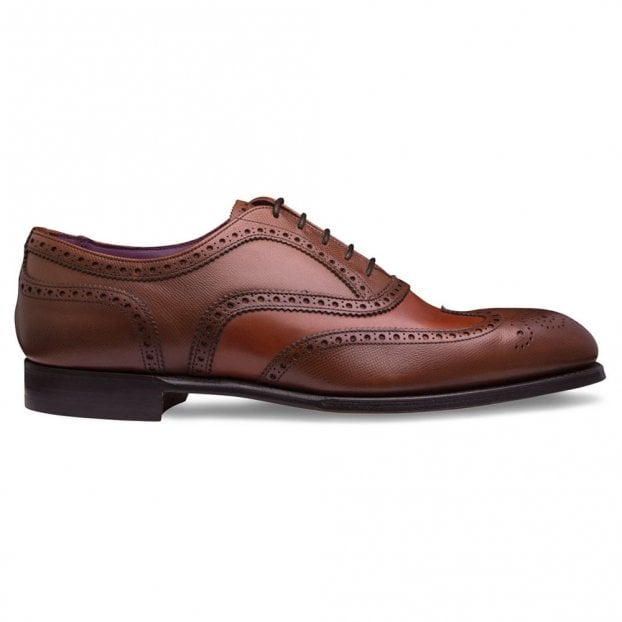 Cheaney Ernest Two Tone Oxford Brogue in Dark Leaf / Brown Ashby Lizard Print