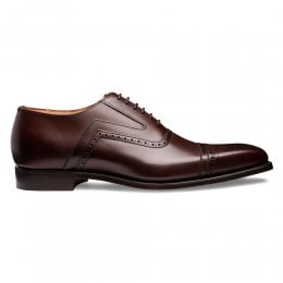 Ethan Capped Oxford in Dark Brown Calf Leather