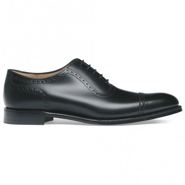 Cheaney Fenchurch Oxford in Black Calf Leather | Leather Sole