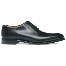 Fenchurch Oxford in Black Calf Leather | Leather Sole