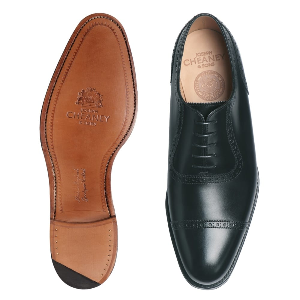 374c7639b8570 Cheaney Fenchurch | Men's Leather Black Oxford Shoe | Made in England