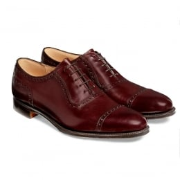 Fenchurch Oxford in Burgundy Calf Leather