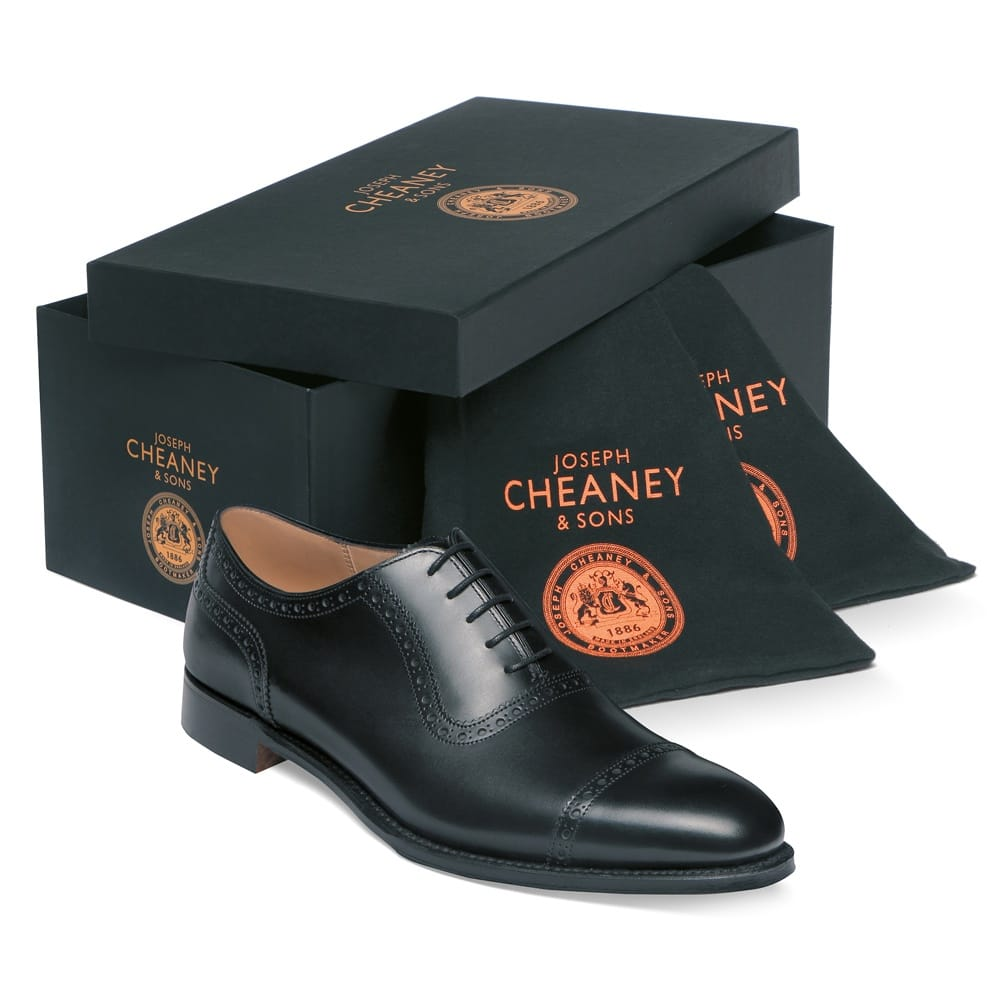 Cheaney Fenchurch R Mens Black Leather Oxford Shoe