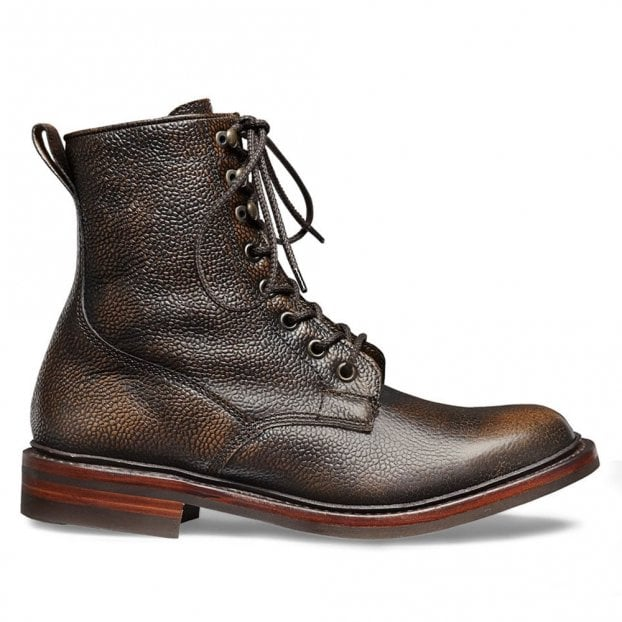 Cheaney Florence R Fur Lined Derby Boot in Bronze Grain Leather